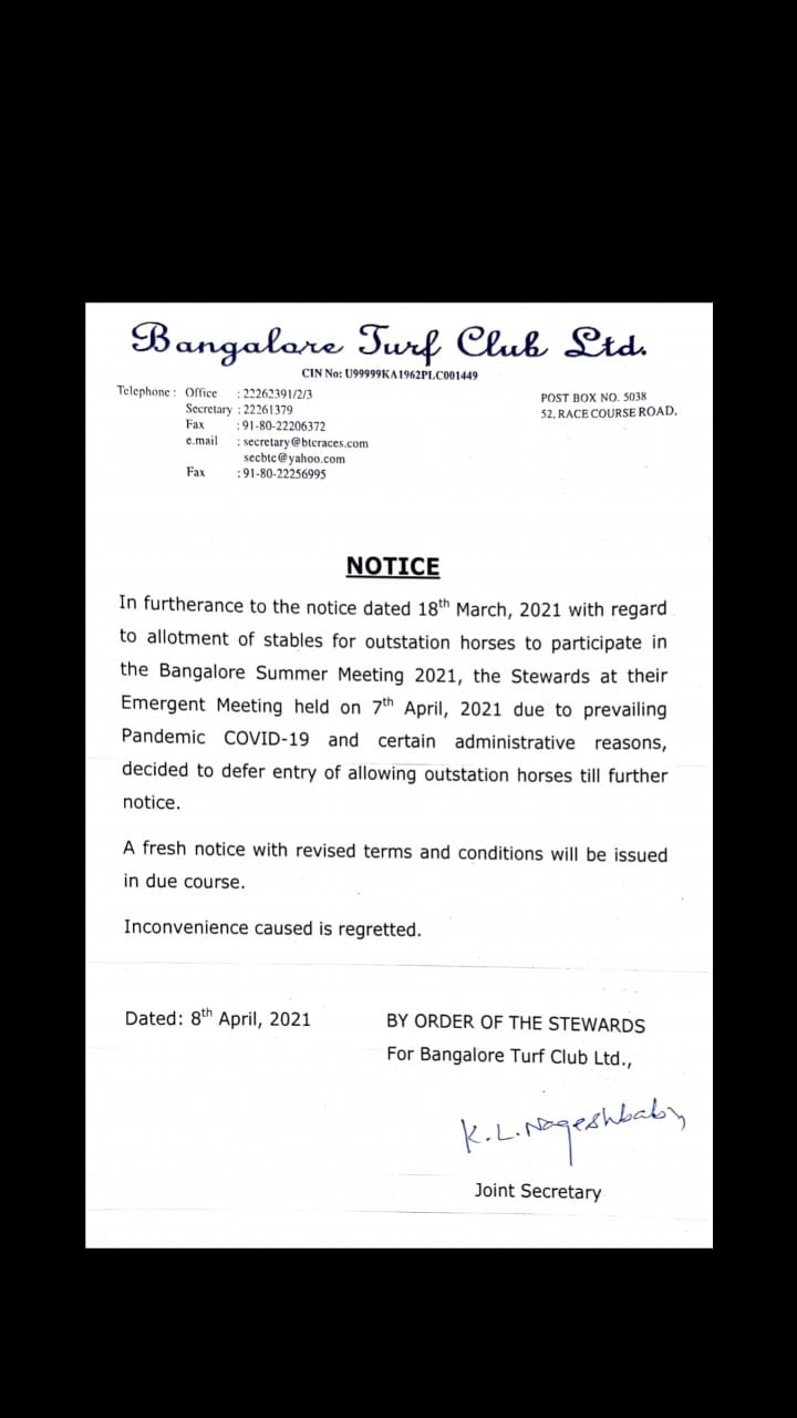 Bangalore Turf Club LTD